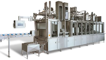 Bosch Ampack filling machine for cups and bottles